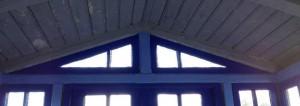 Toppfönstren i verandan